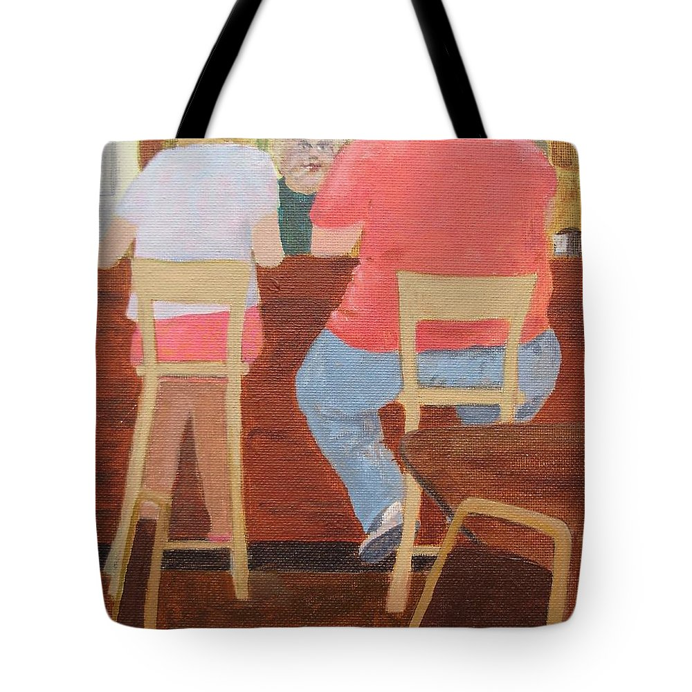 Rutt's Hut Tote Bag featuring the painting Six Rippers by William Riley