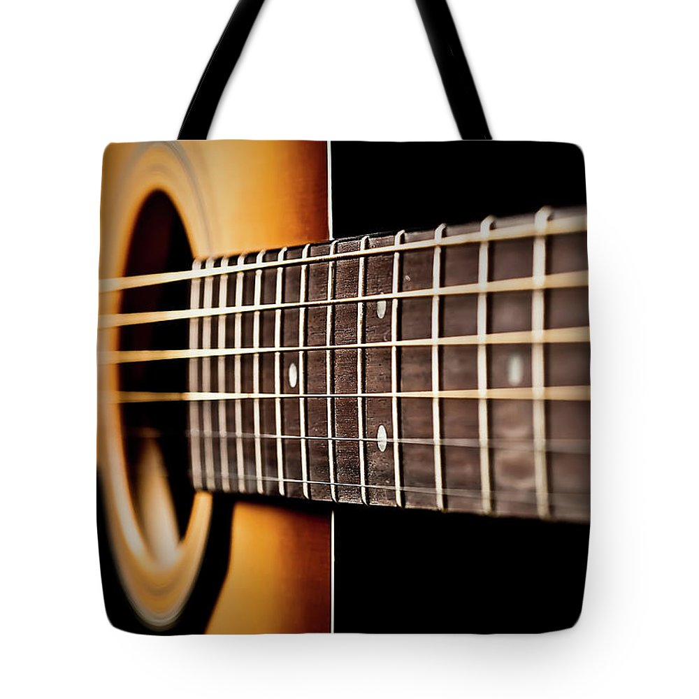 Six String Guitar Tote Bag featuring the photograph Six String Guitar by Onyonet Photo Studios