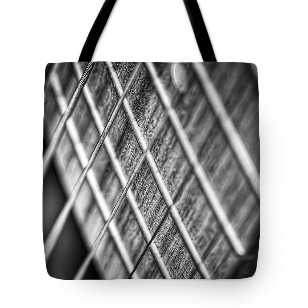 Guitar Tote Bag featuring the photograph Six Strings by Scott Norris