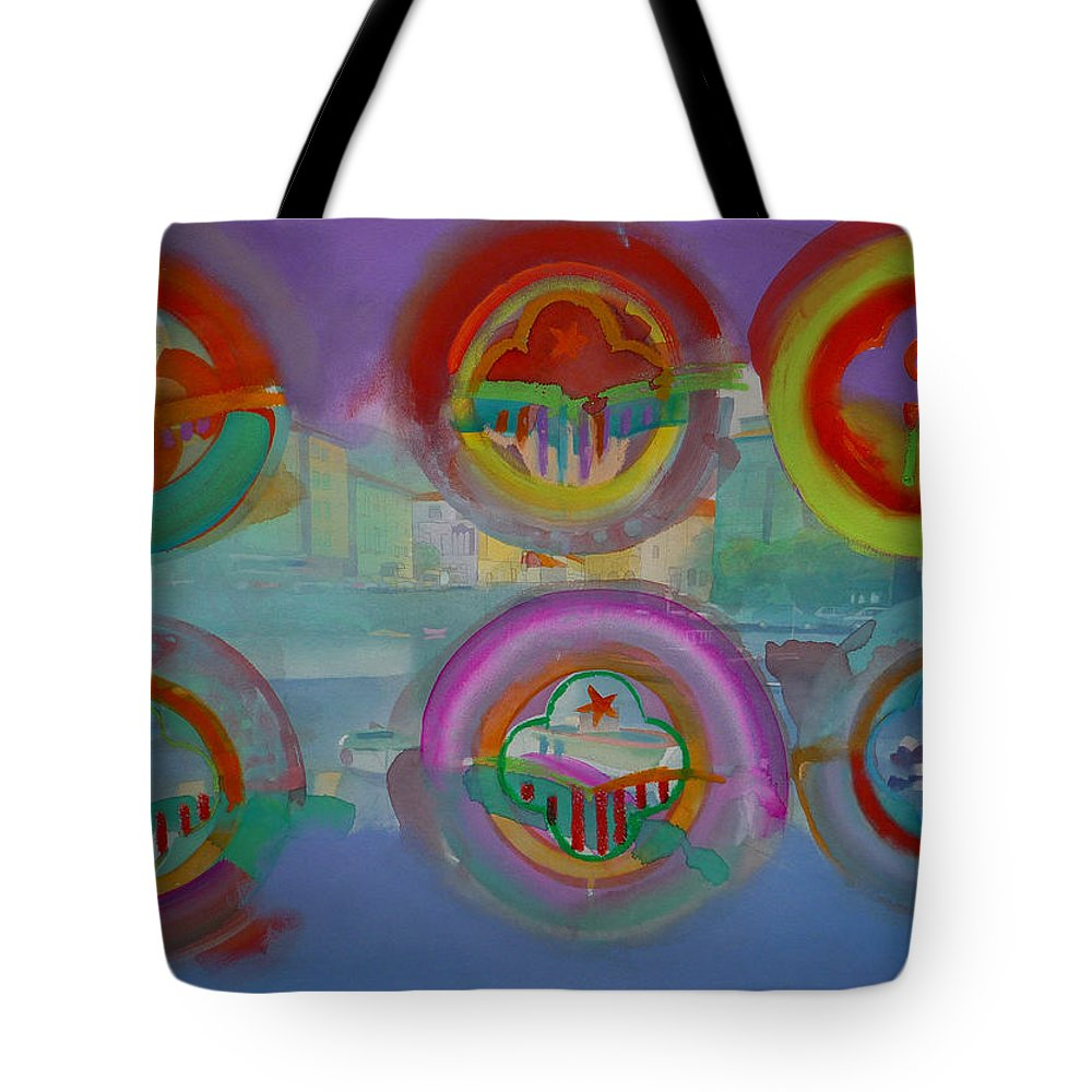 Landscape Tote Bag featuring the painting Six Visions Of Heaven by Charles Stuart