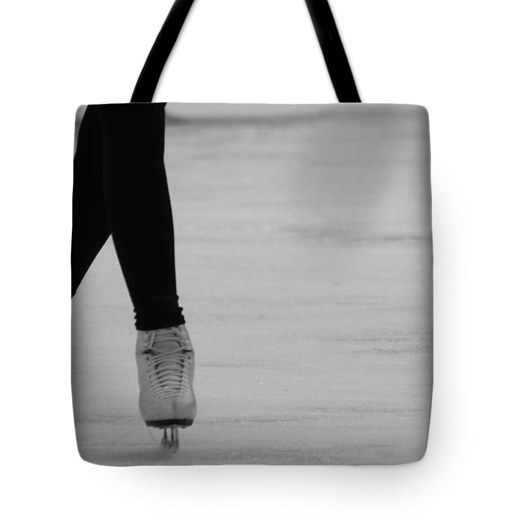 Ice Skate Tote Bag featuring the photograph Skating by Lauri Novak