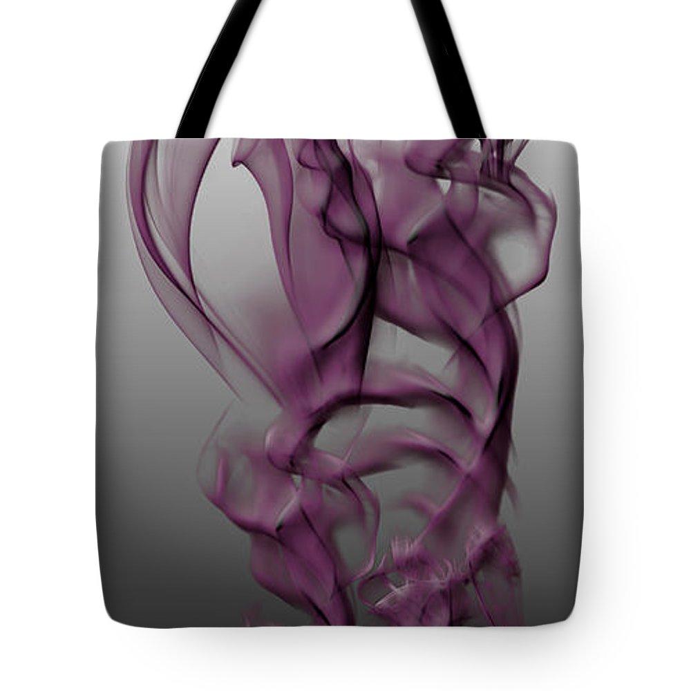 Clay Tote Bag featuring the digital art Skeletal Flow by Clayton Bruster