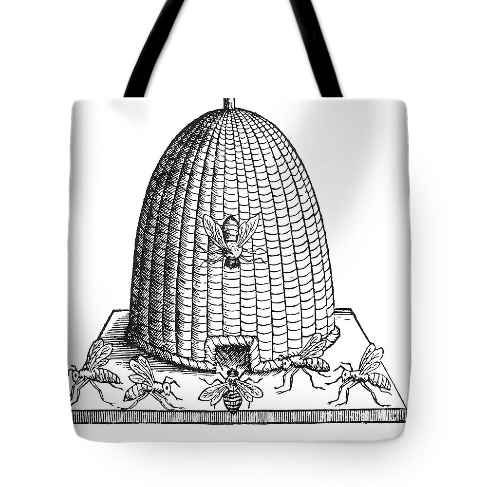 Agriculture Tote Bag featuring the photograph Skep Beehive, 17th Century by Science Source