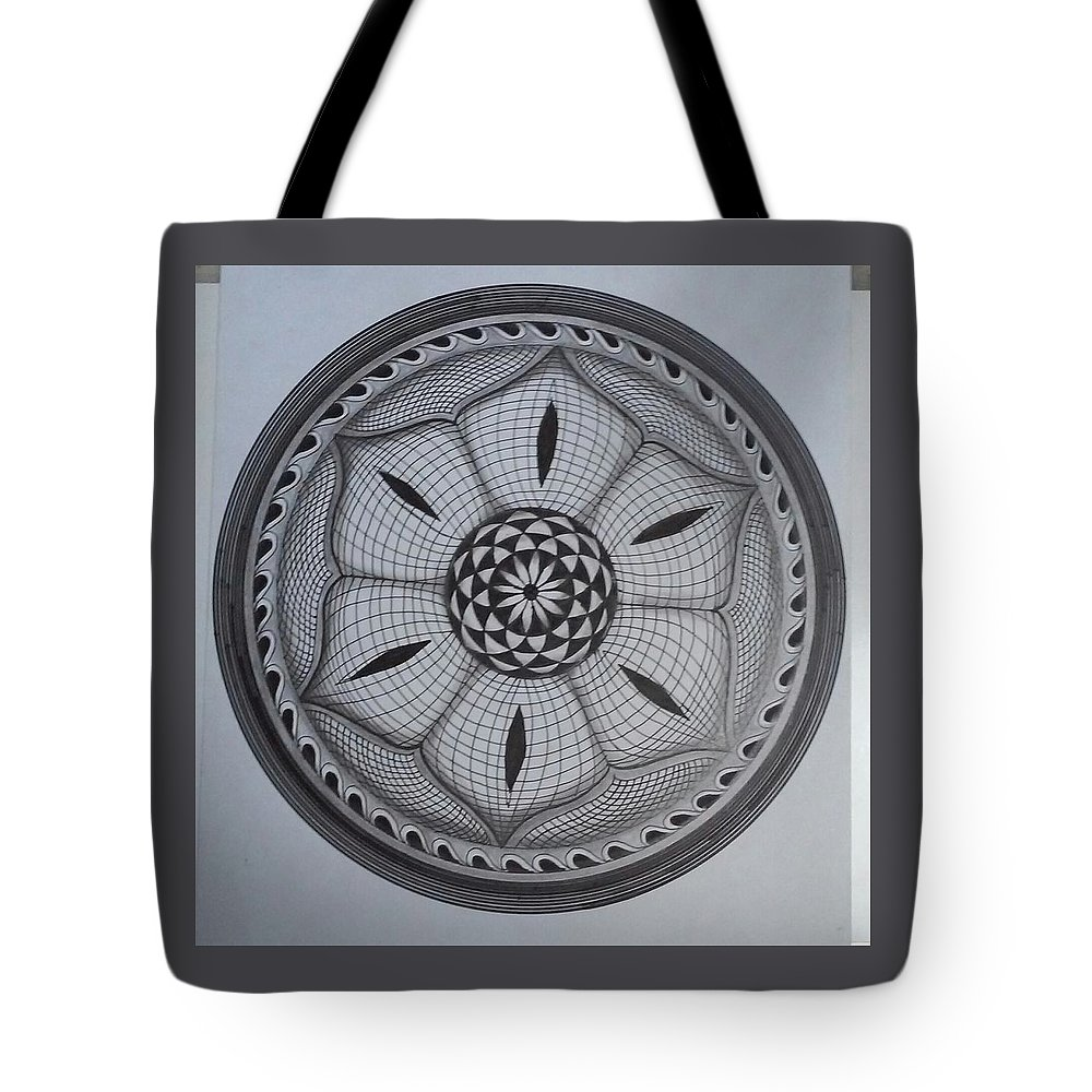 Pen Tote Bag featuring the painting Sketch 2 by Vimala Jajoo