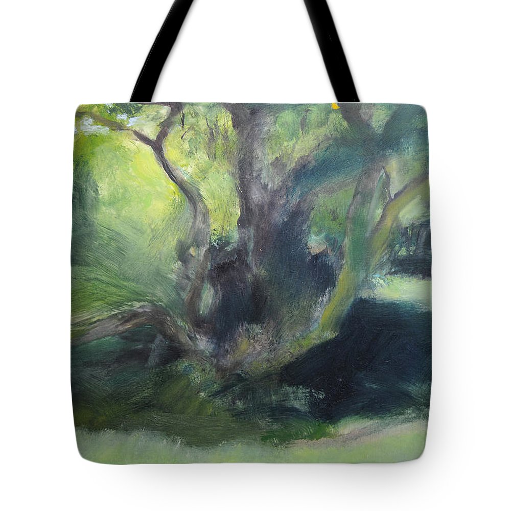 Wales Tote Bag featuring the painting Sketch Of A Shady Glade. by Harry Robertson