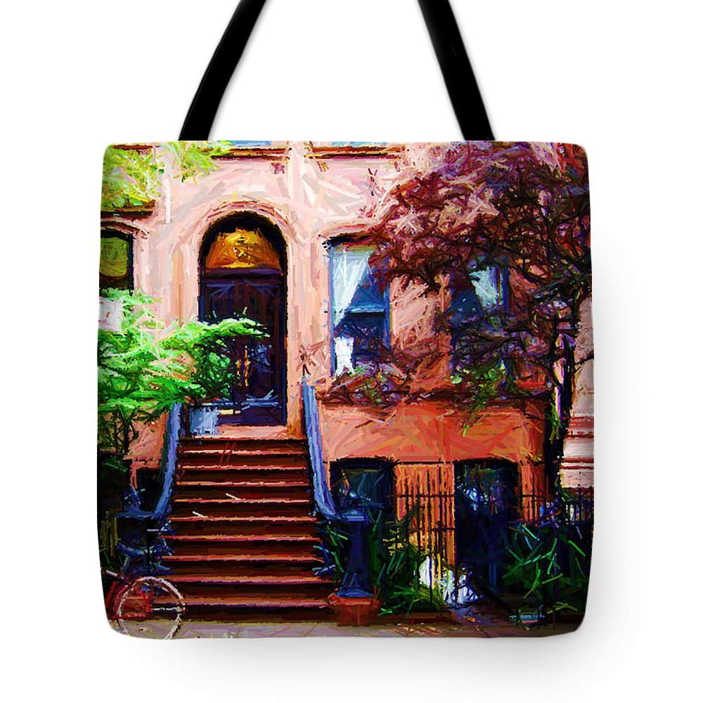 Art Tote Bag featuring the digital art Sketch Of Carrie's Place From Sex And The City by Randy Aveille