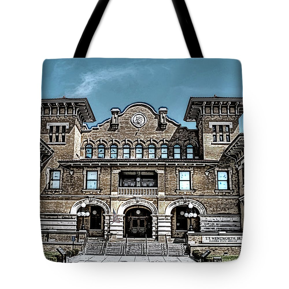 Wentworth Museum Tote Bag featuring the photograph Sketch Of The Tt Wentworth Museum by Joseph Rainey
