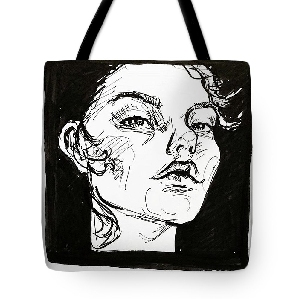 Inkdrawing Tote Bag featuring the drawing Sketchbook Scribbles by Faithc Original Artwork