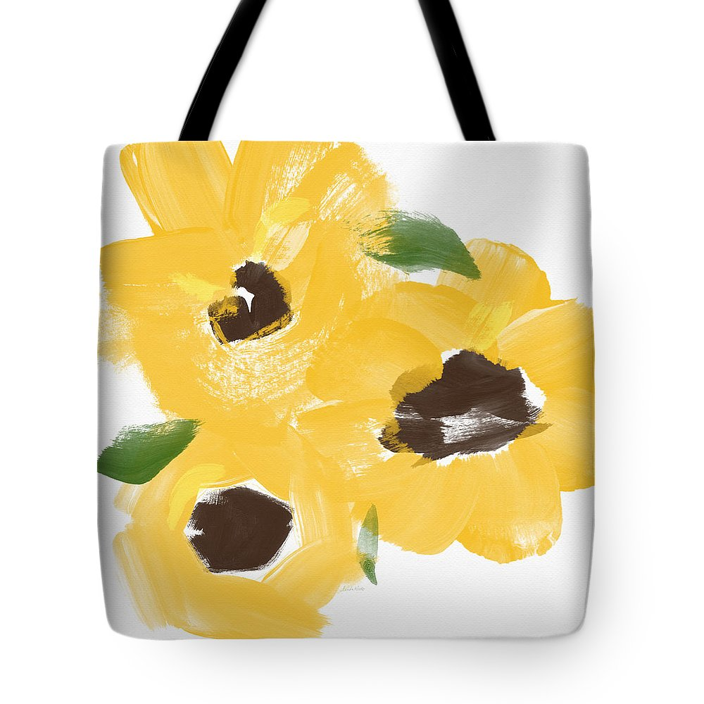 Sunflowers Tote Bag featuring the painting Sketchbook Sunflowers- Art By Linda Woods by Linda Woods