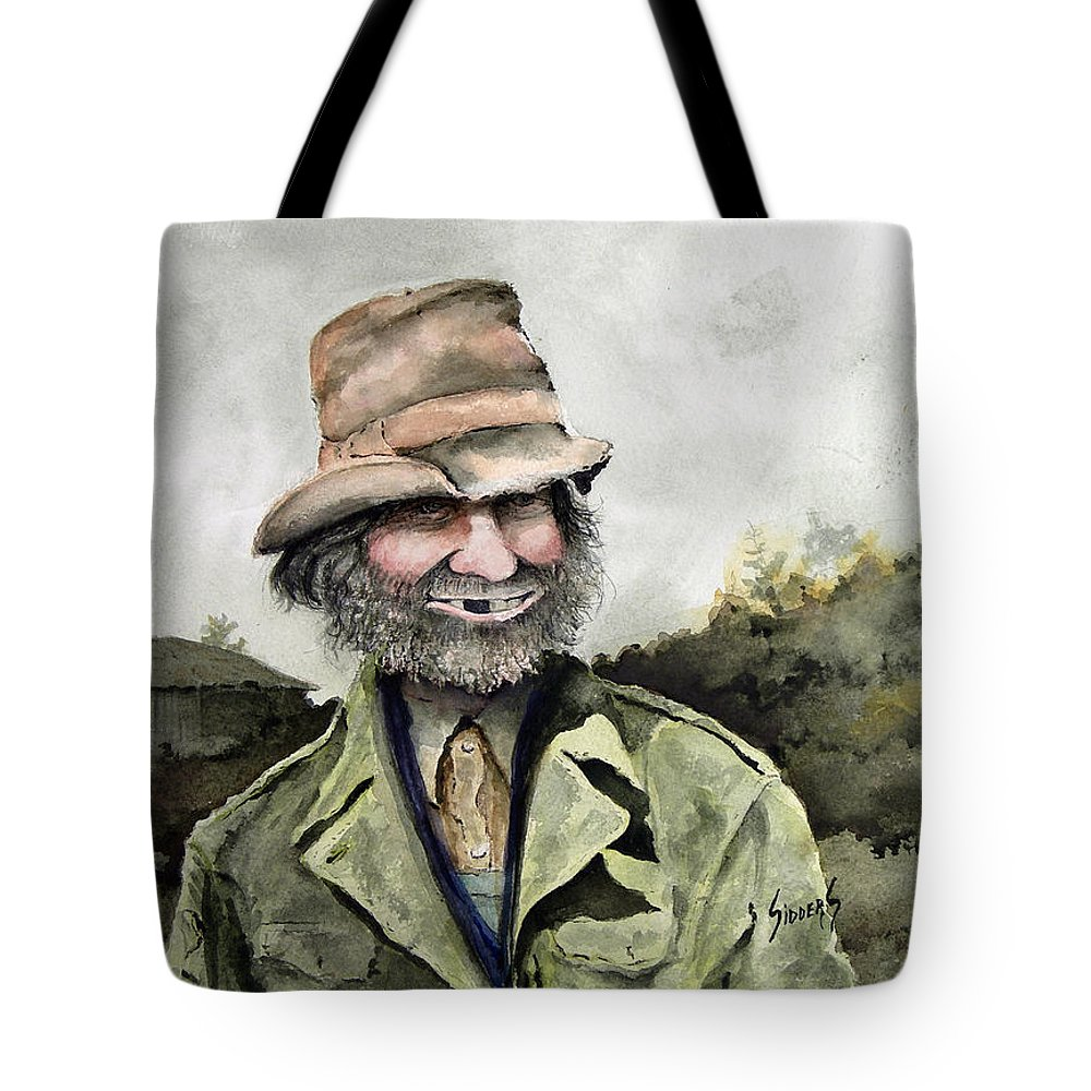 Portrait Tote Bag featuring the painting Skinny Benny by Sam Sidders