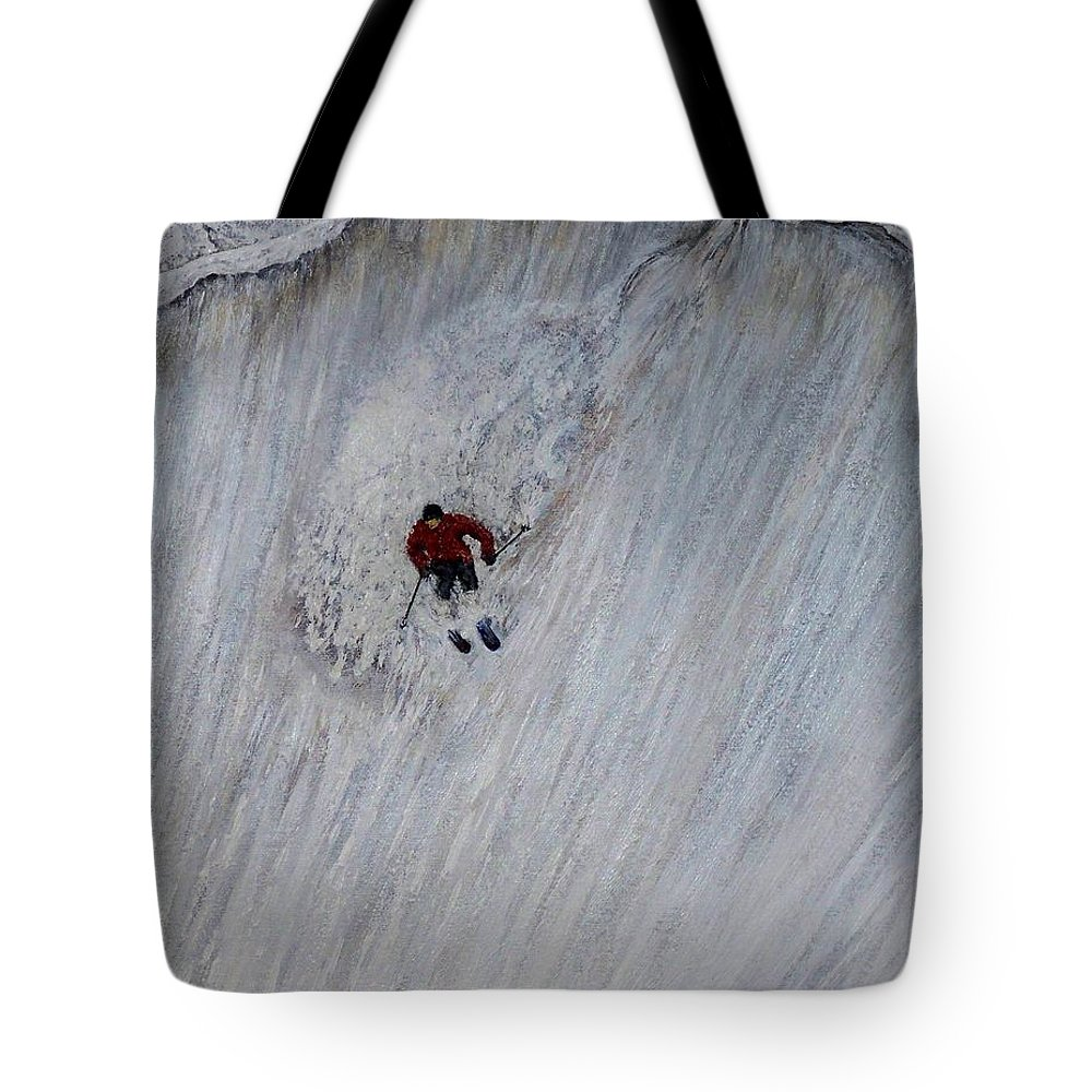 Landscape Tote Bag featuring the painting Skitilthend by Michael Cuozzo