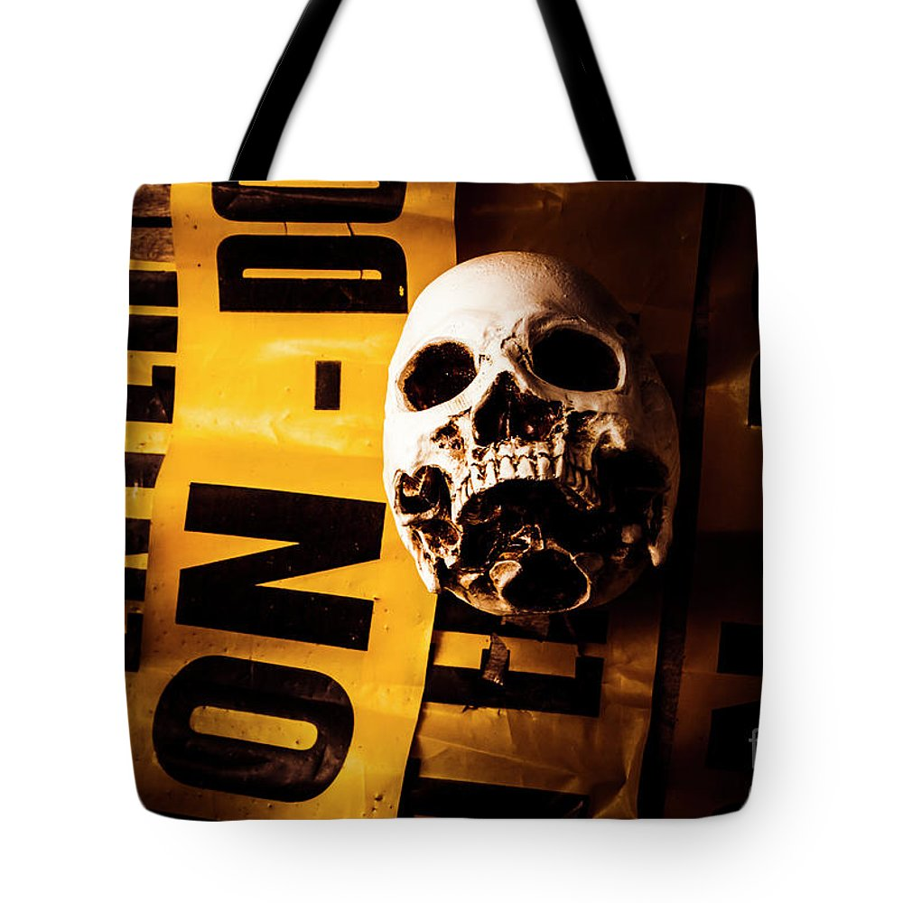Murder Tote Bag featuring the photograph Skulduggery by Jorgo Photography - Wall Art Gallery