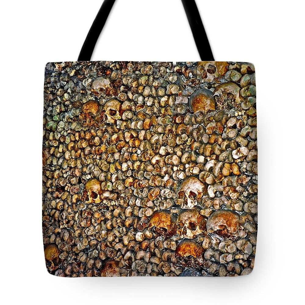 Skulls Tote Bag featuring the photograph Skulls And Bones Under Paris by Juergen Weiss