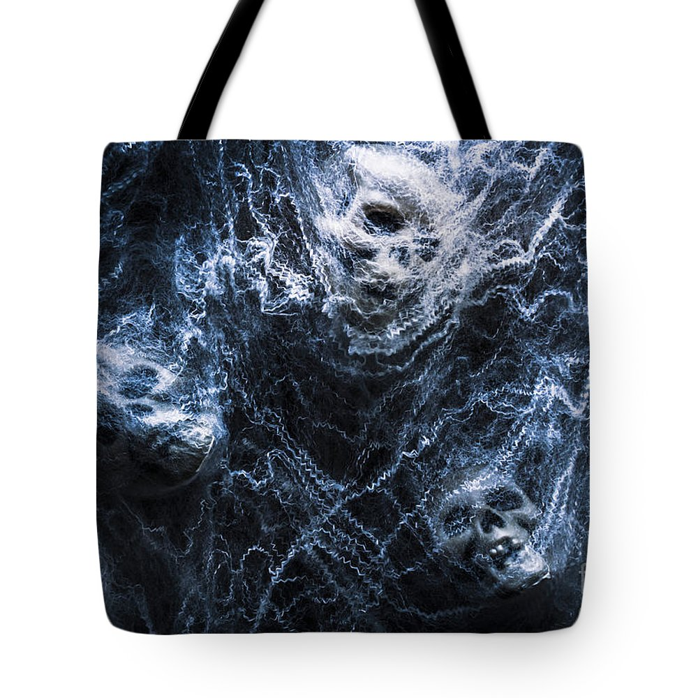 Dead Tote Bag featuring the photograph Skulls Tangled In Fear by Jorgo Photography - Wall Art Gallery