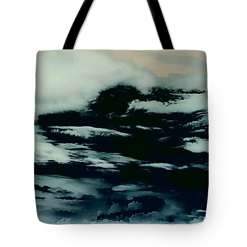 Clouds Sky Dark Tote Bag featuring the photograph Sky 7 by Cindy New