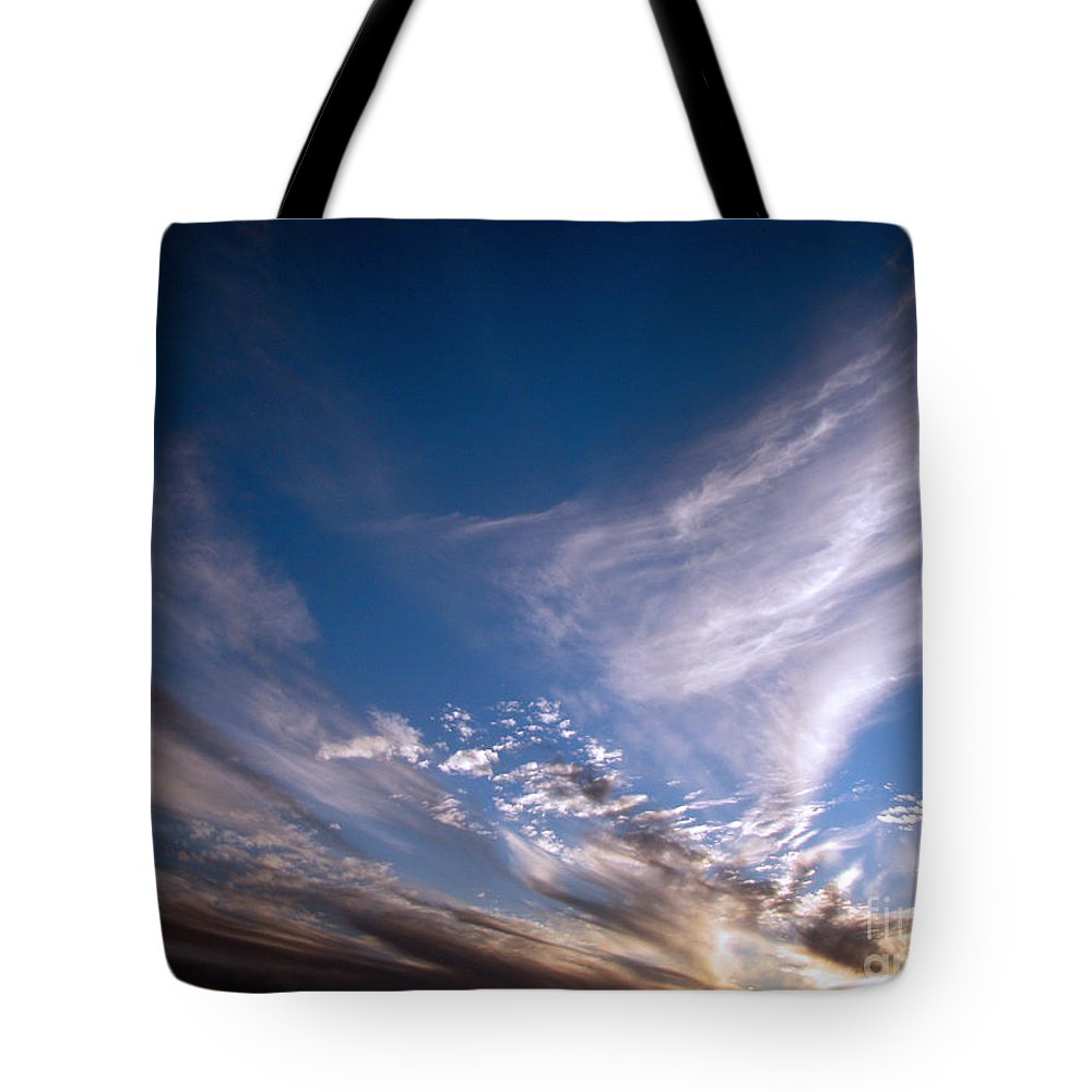 Skies Tote Bag featuring the photograph Sky by Amanda Barcon