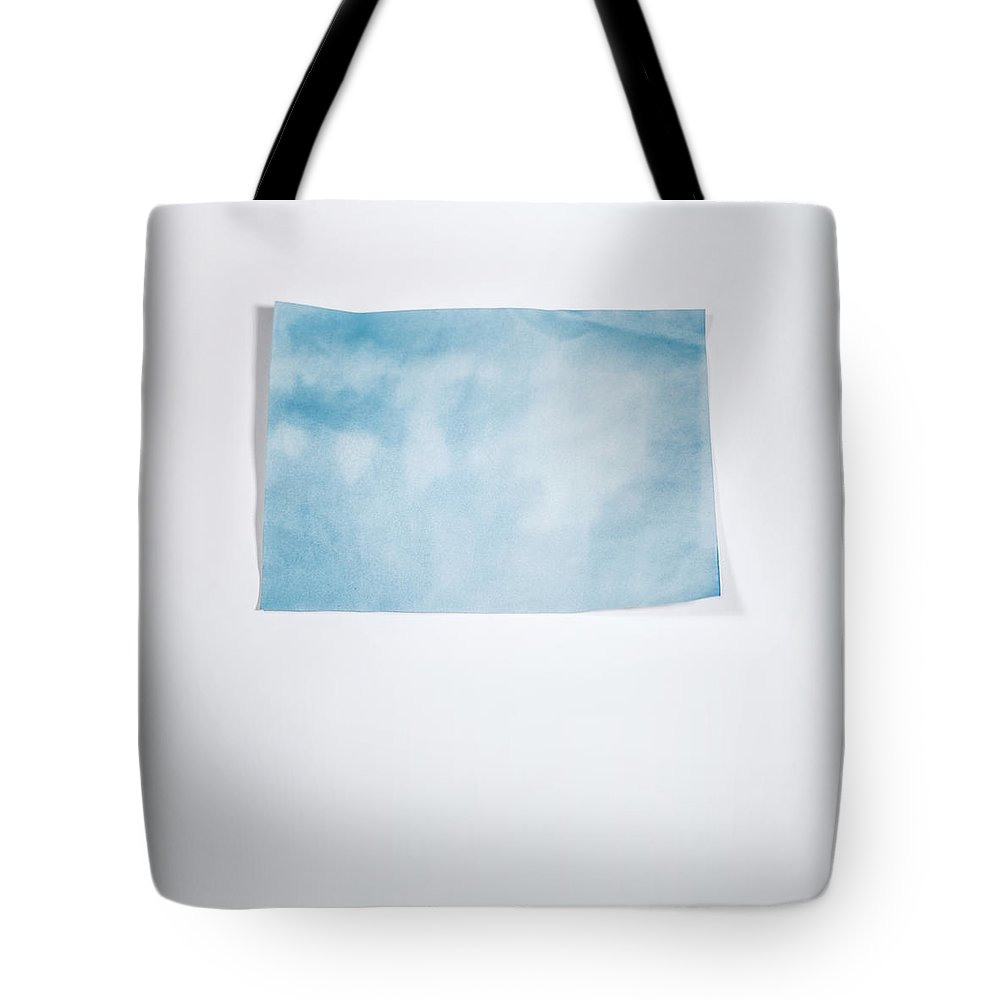 Scott Norris Photography Tote Bag featuring the photograph Sky Blue On White by Scott Norris