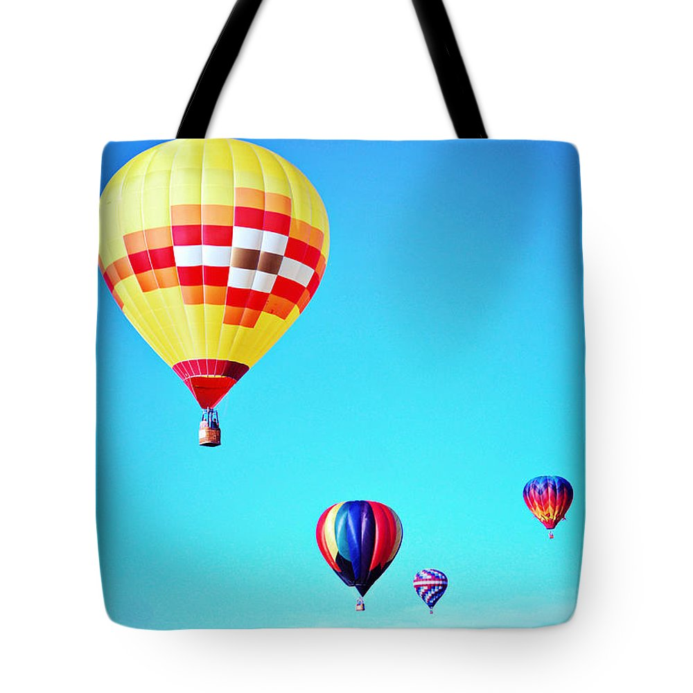 Balloon Tote Bag featuring the photograph Sky Full Of Color by Jacquelyn Hensley