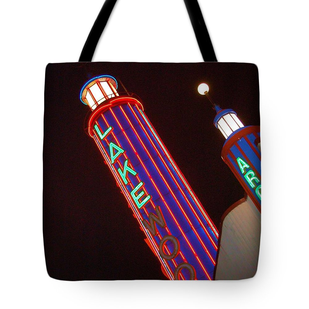 Neon Tote Bag featuring the photograph Sky Lights by Debbi Granruth