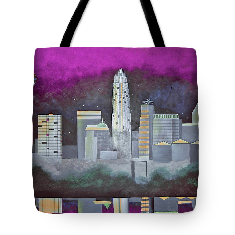 Skyline Tote Bag featuring the painting Sky Line by Virginia Bond