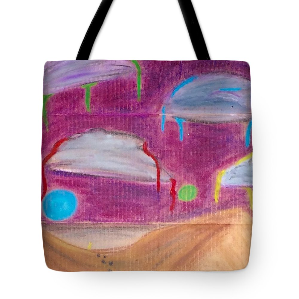 Tote Bag featuring the pastel Sky Might Fall by Peter Petunia