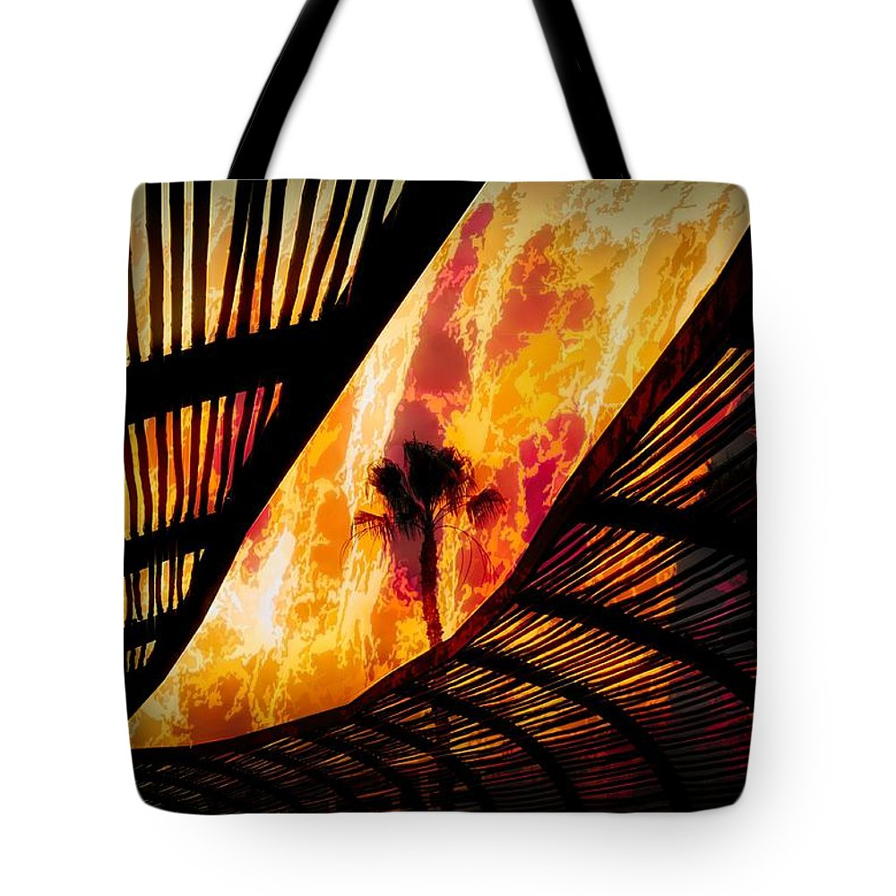Fire Tote Bag featuring the photograph Sky On Fire by Robert Ardito
