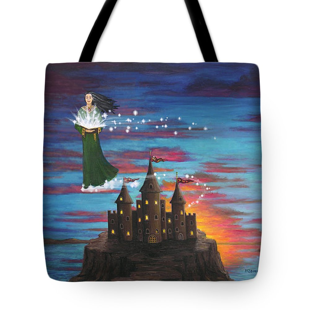 Wizard Tote Bag featuring the digital art Sky Walker by Roz Eve