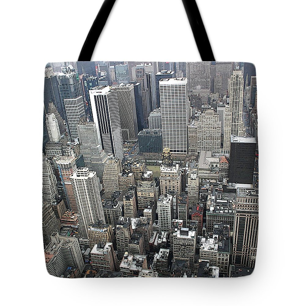 New York City Tote Bag featuring the photograph Skyhigh by Mary Haber