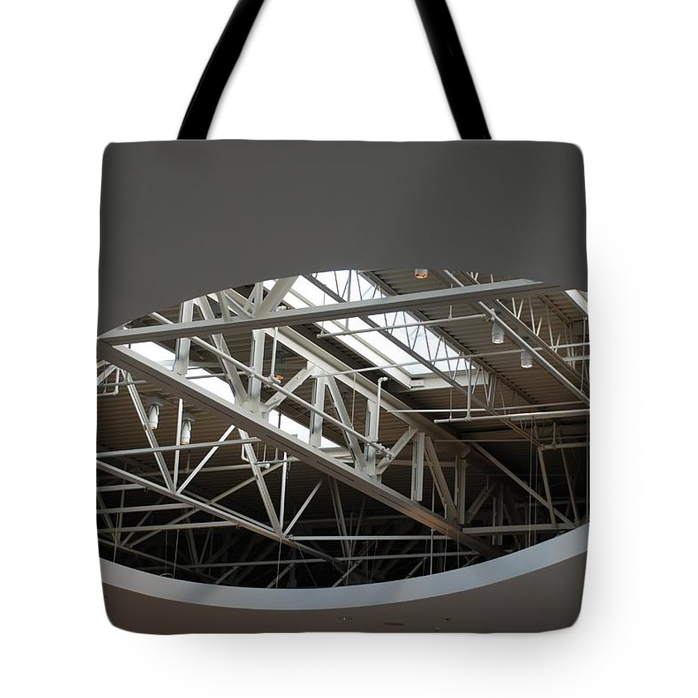 Ceiling Tote Bag featuring the photograph Skylight Gurders by Rob Hans