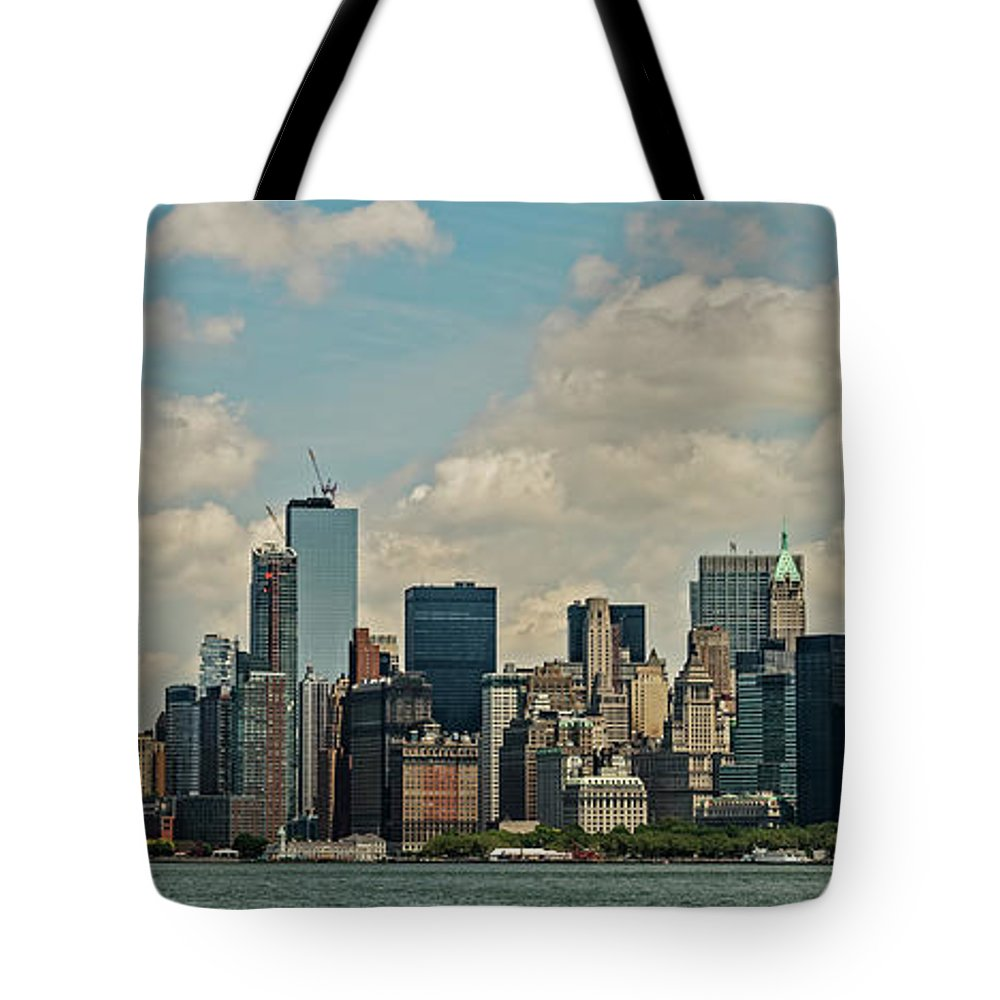 Skyscrapers Tote Bag featuring the photograph Skyline Of New York City - Lower Manhattan by David Oppenheimer