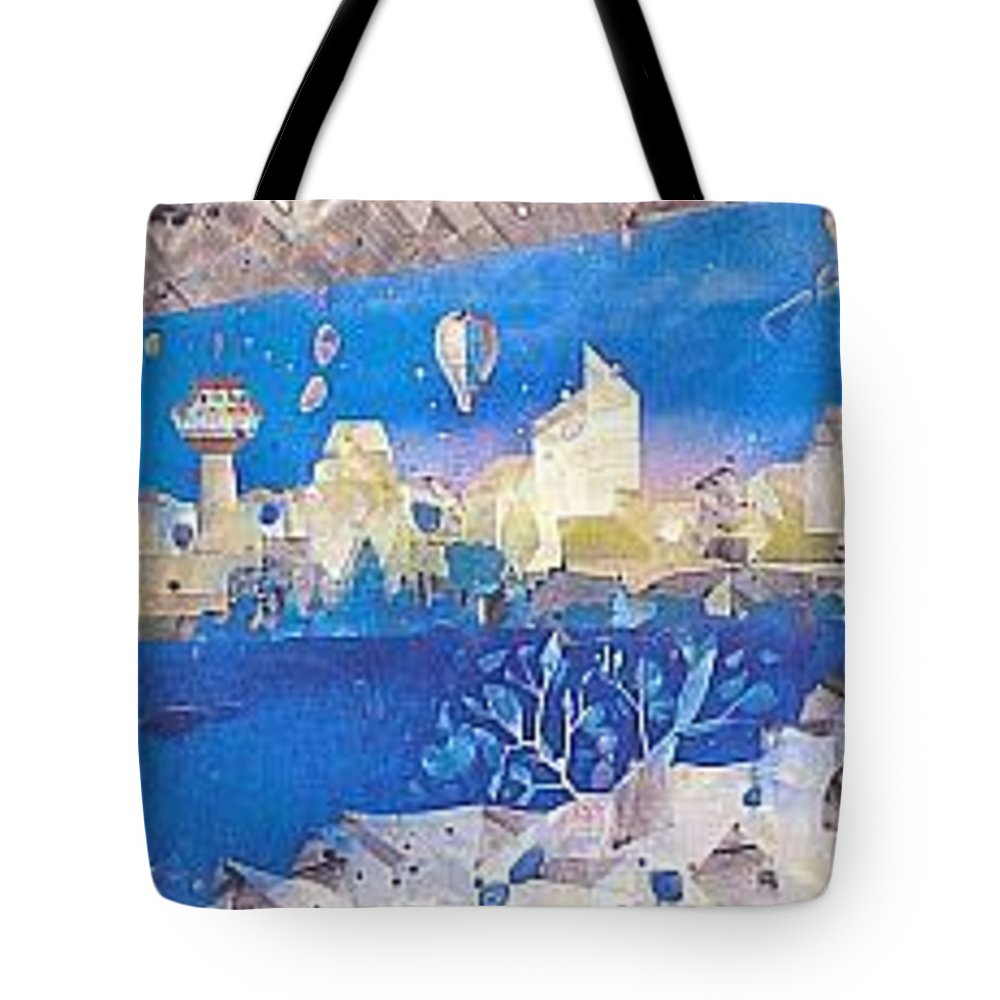 Landscape Tote Bag featuring the painting Skyline by Rick Silas