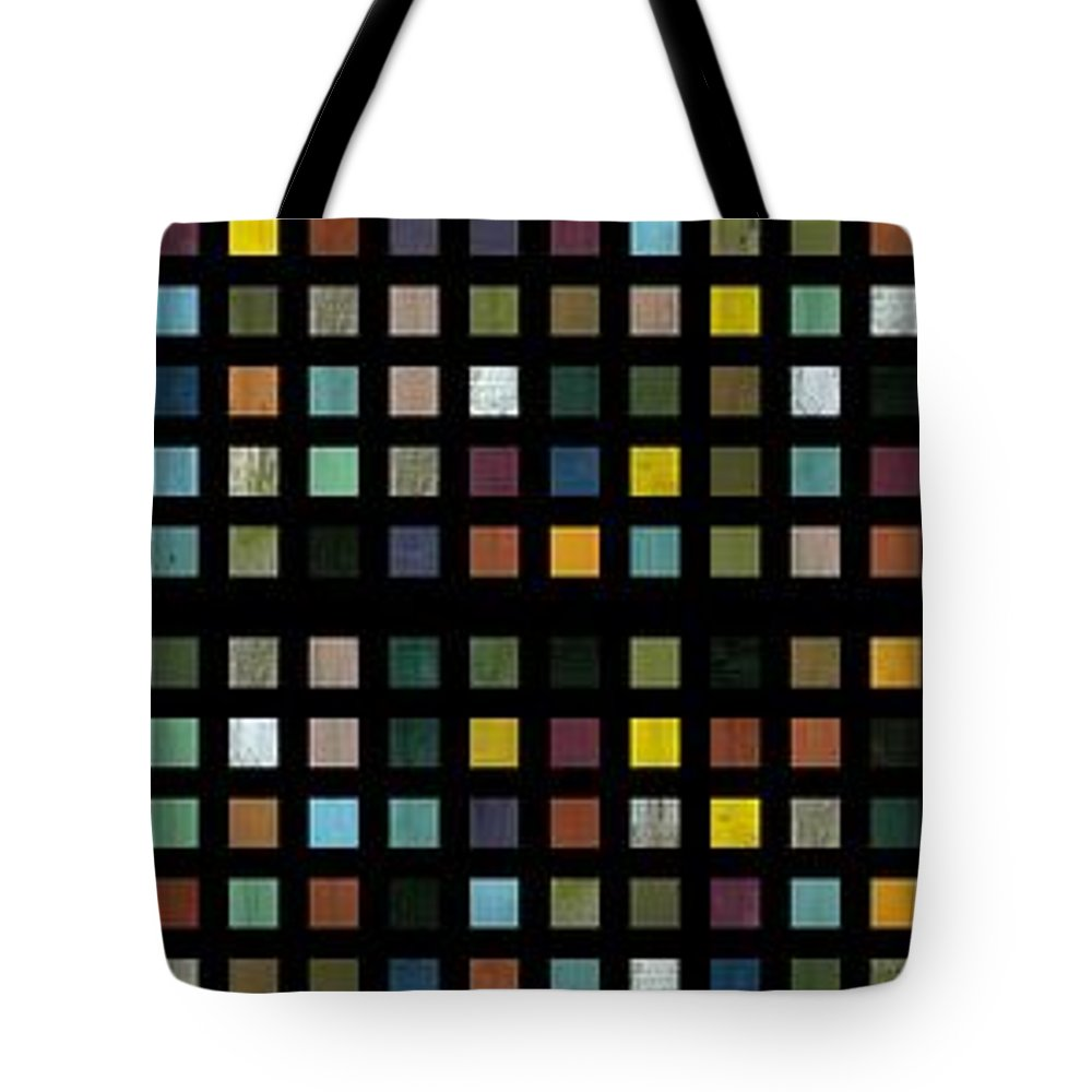 Abstract Tote Bag featuring the digital art Skyscraper Abstract L by Michelle Calkins