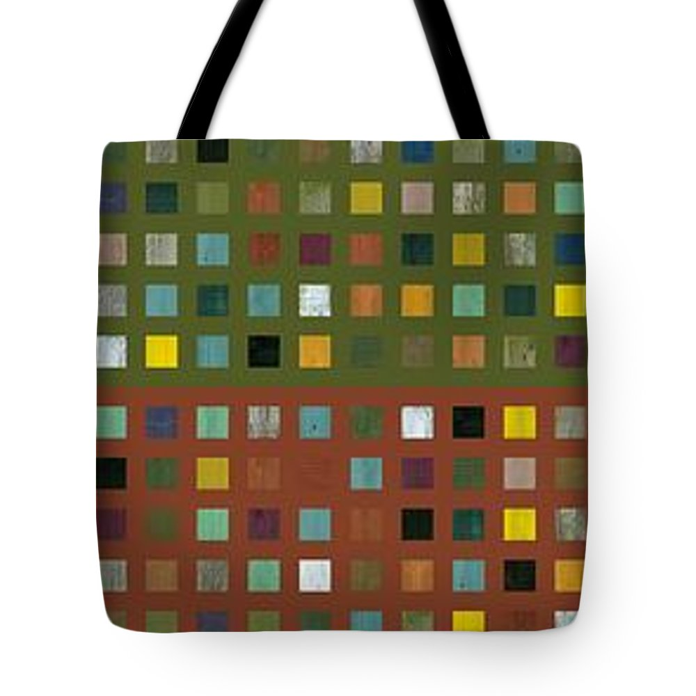 Abstract Tote Bag featuring the digital art Skyscraper Abstract Ll by Michelle Calkins