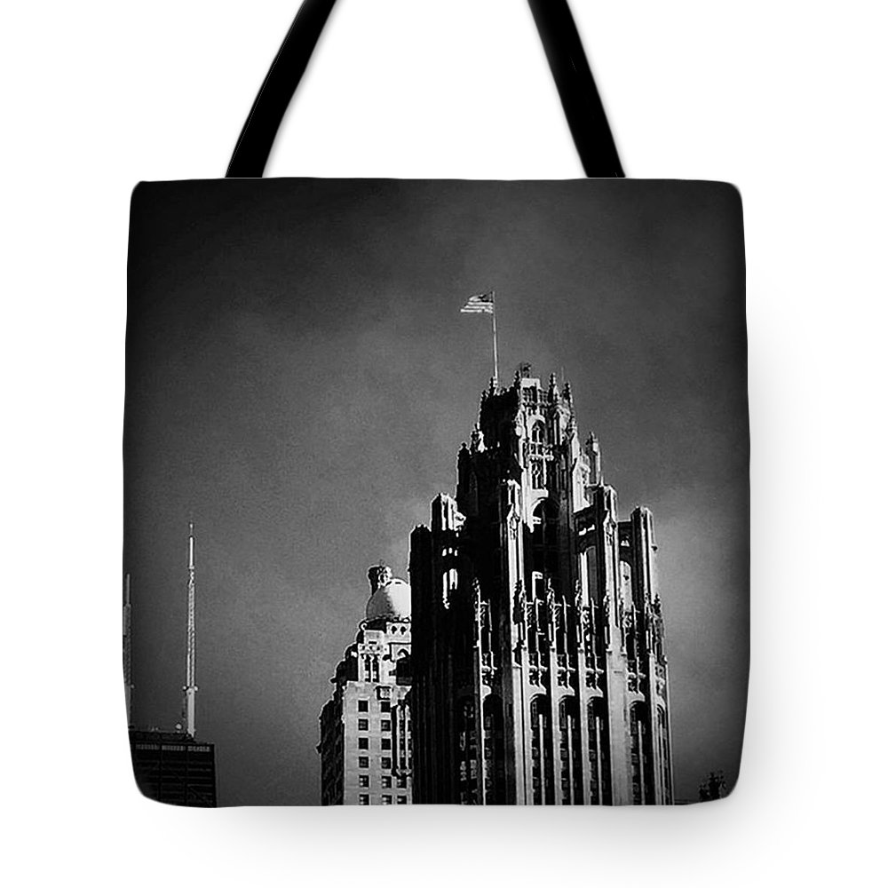 Chicago Tote Bag featuring the photograph Skyscrapers Then And Now by Frank J Casella