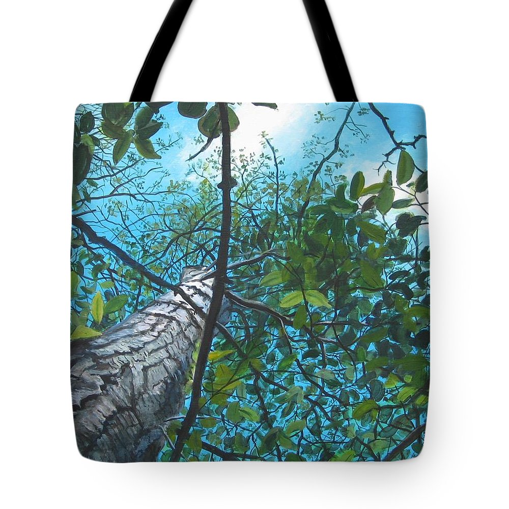 Landscape Tote Bag featuring the painting Skyward by William Brody