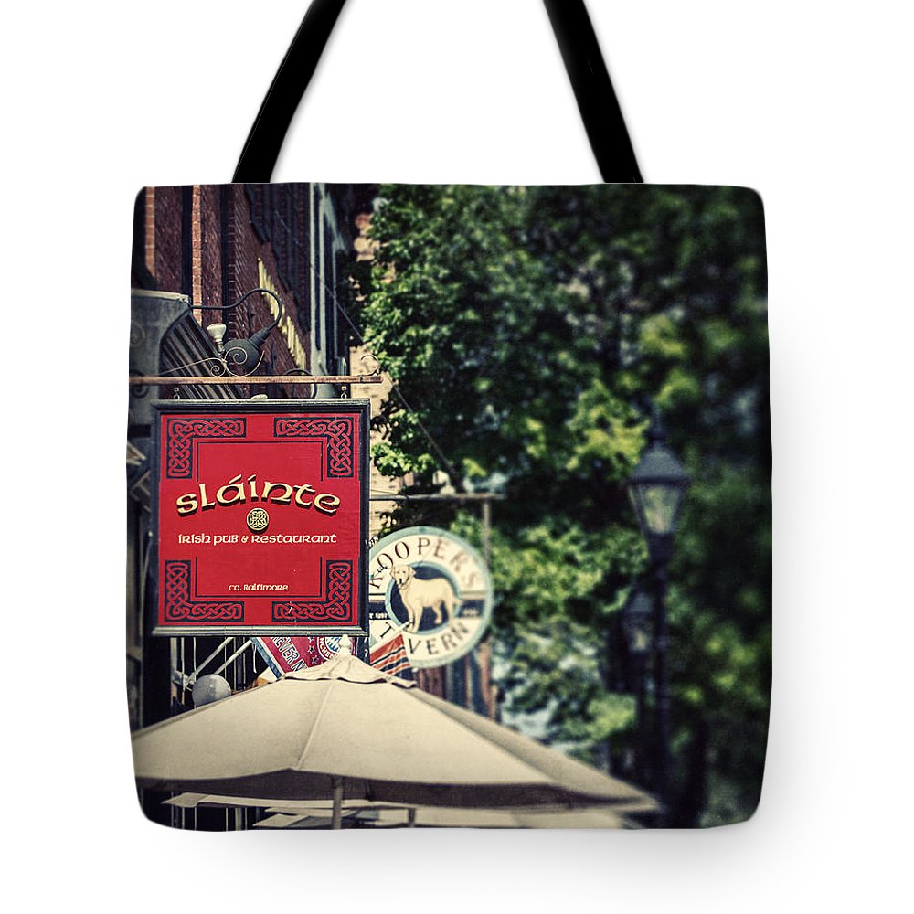 Slainte Tote Bag featuring the photograph Slainte by Lisa Russo