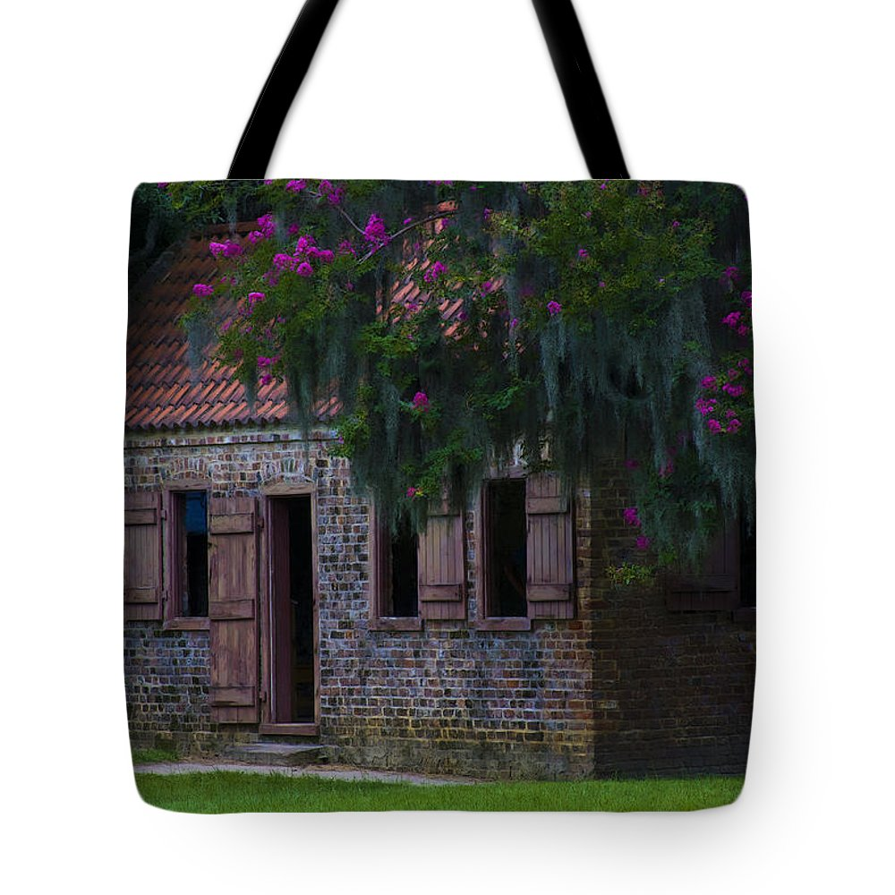 Old South Tote Bag featuring the photograph Slave Quarters by Ron Jones