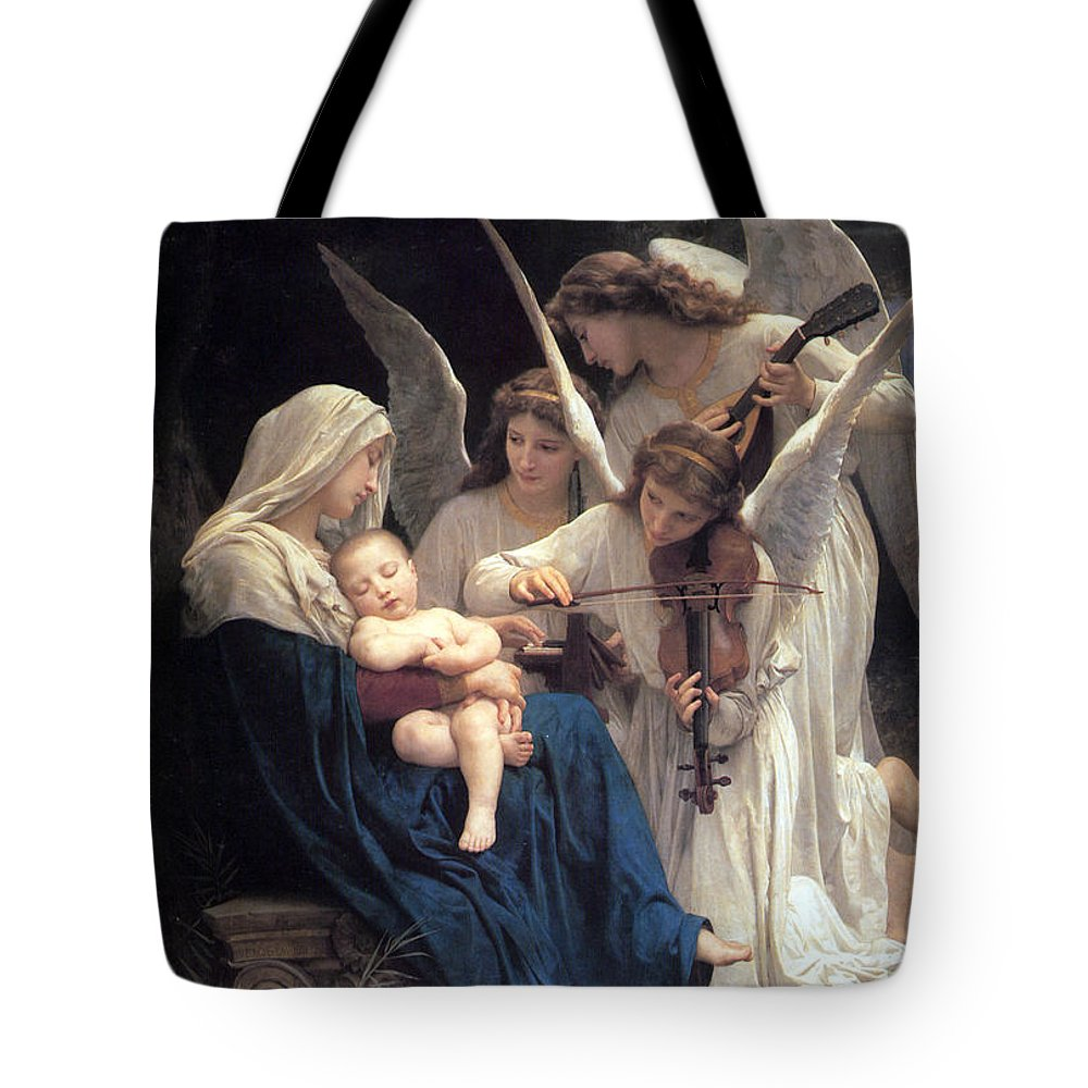 Angel Tote Bag featuring the photograph Sleeping Baby Jesus by Munir Alawi