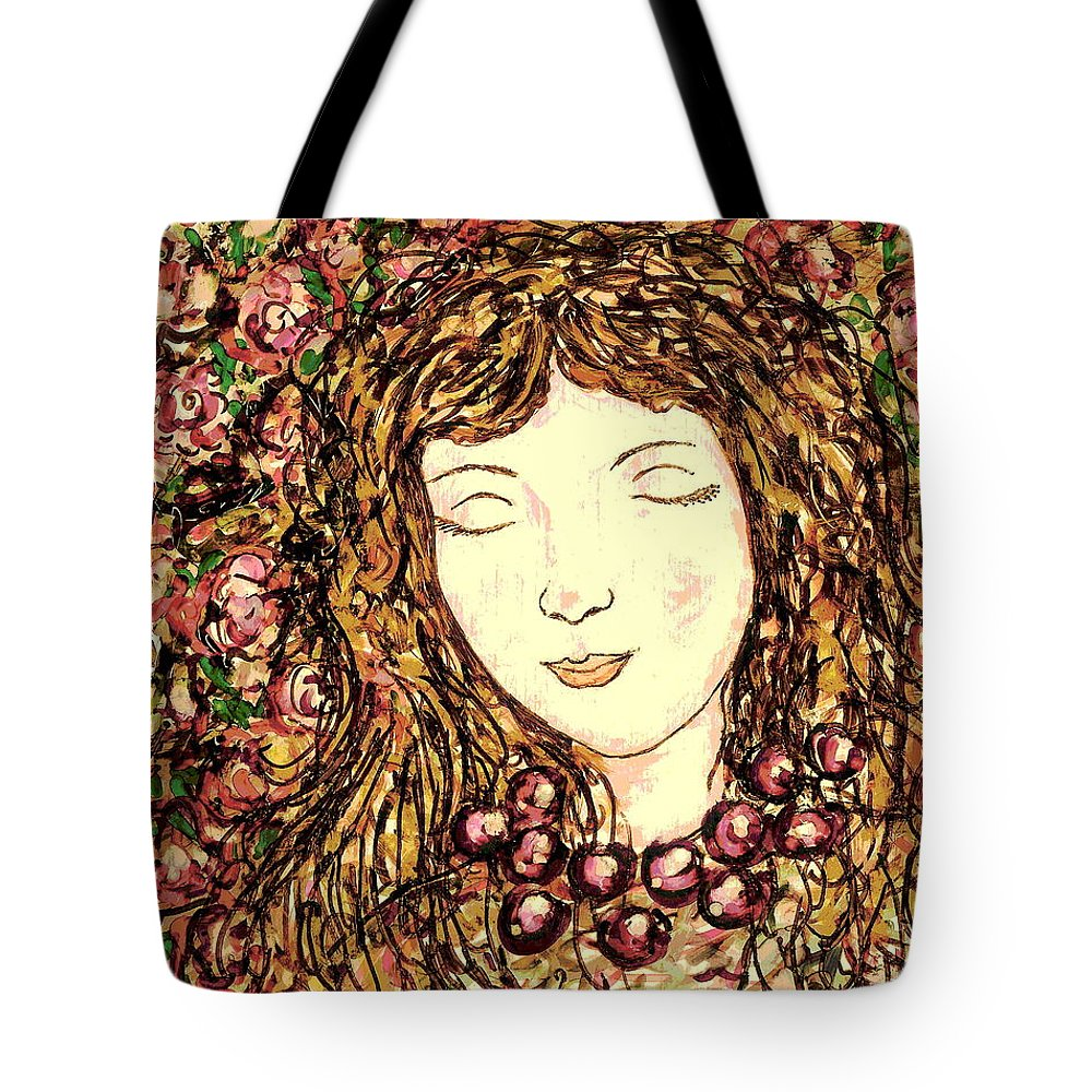 Sleeping Beauty Tote Bag featuring the painting Sleeping Beauty by Natalie Holland