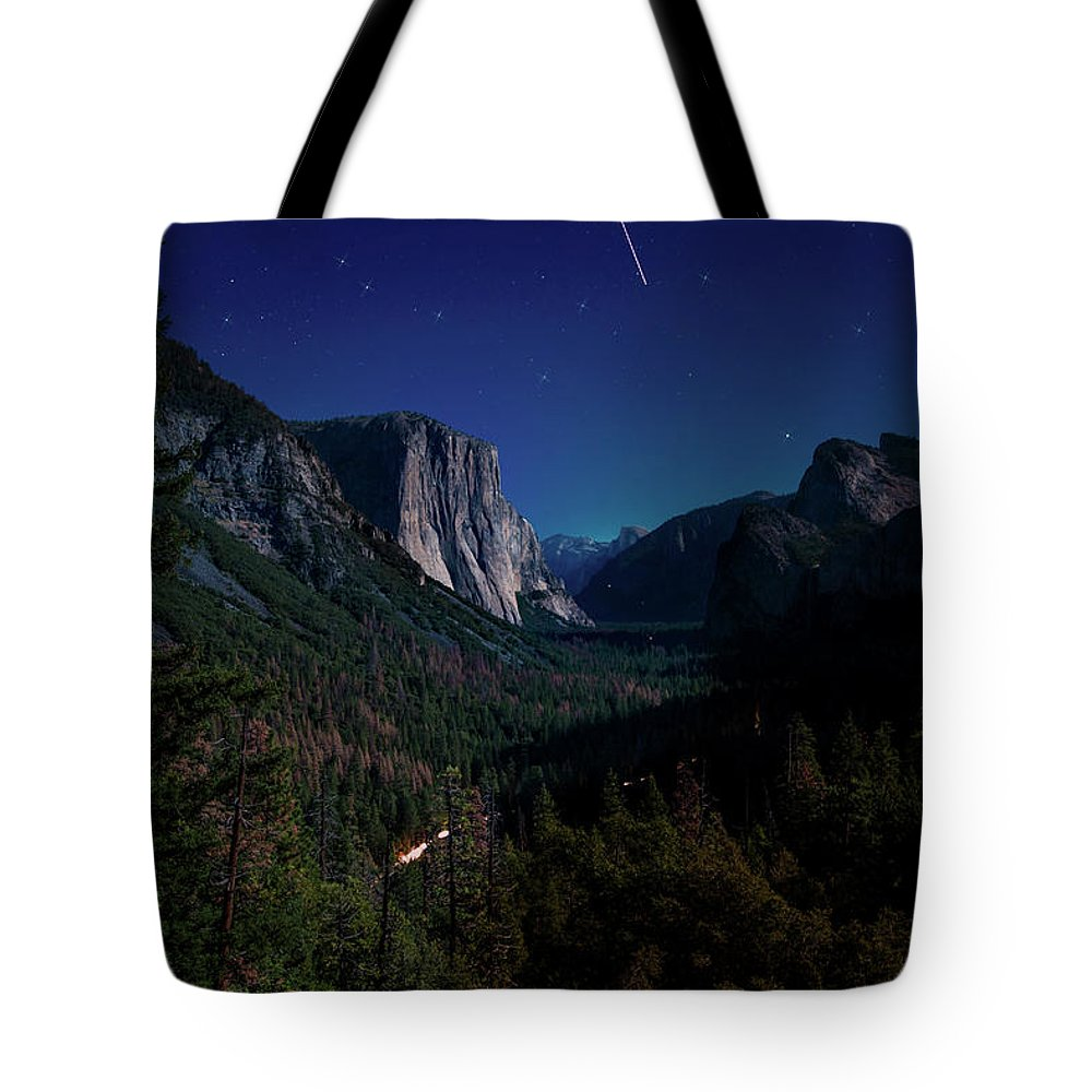 Night Tote Bag featuring the photograph Sleeping Brothers by Moshe Levis