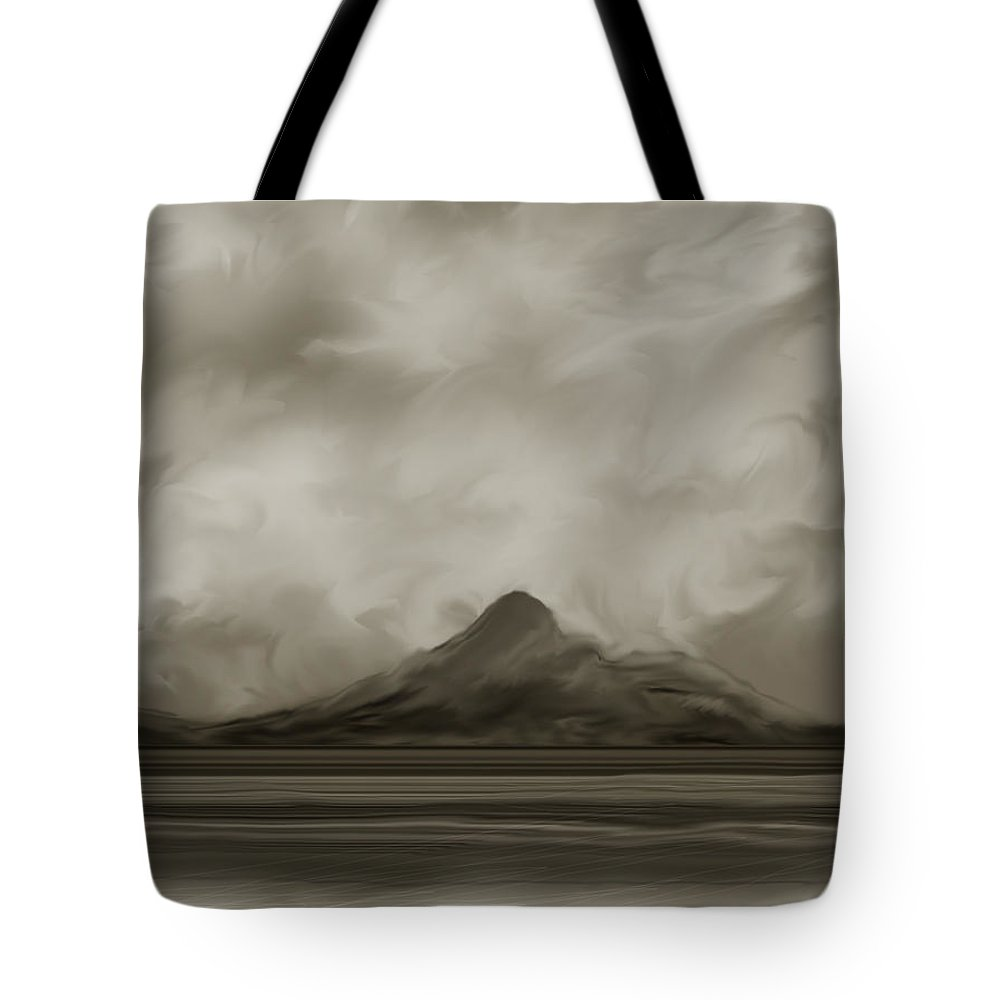 Wyoming Tote Bag featuring the painting Sleeping Giant And Beck Lake by Anne Norskog