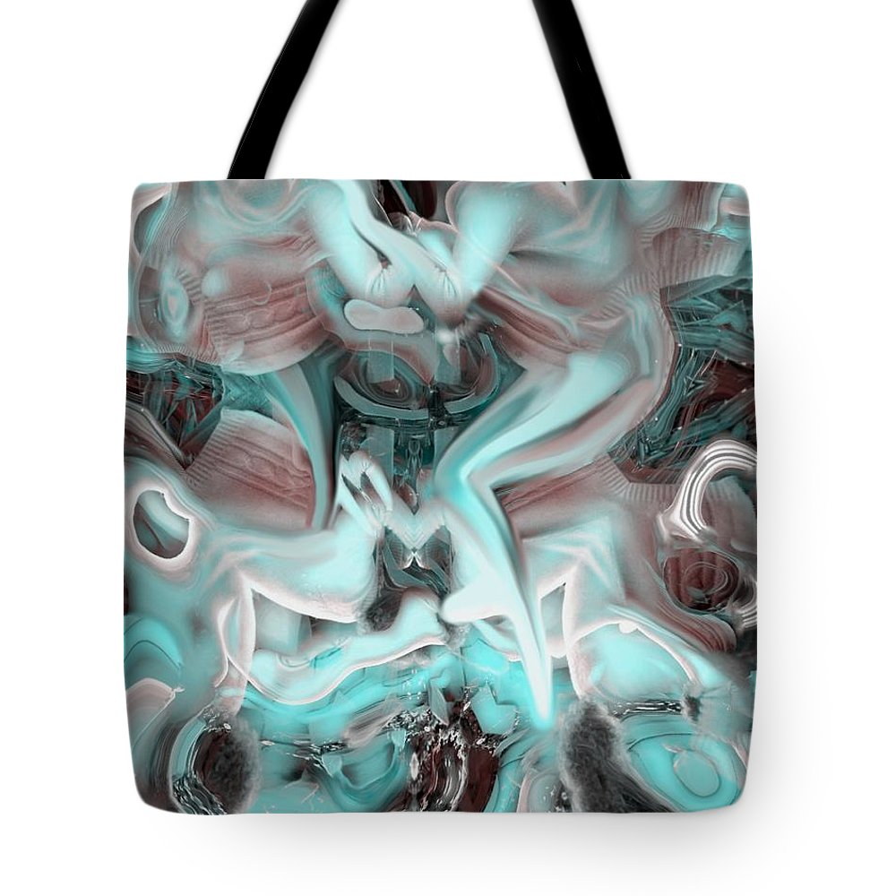 Space Sllep Blue Float Navigate Alien Tote Bag featuring the digital art Sleeping In My Space Ship by Veronica Jackson