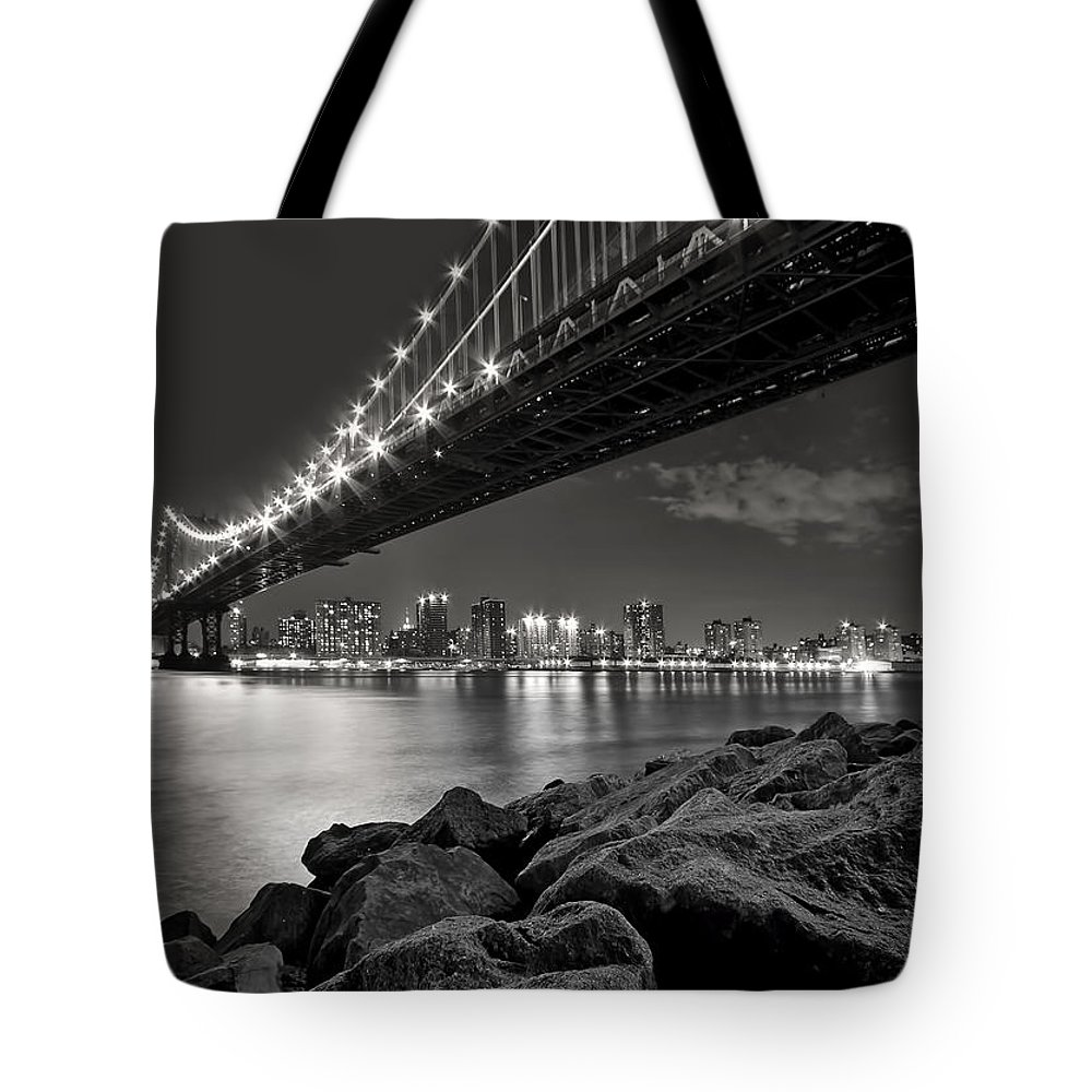 Bridge Tote Bag featuring the photograph Sleepless Nights And City Lights by Evelina Kremsdorf