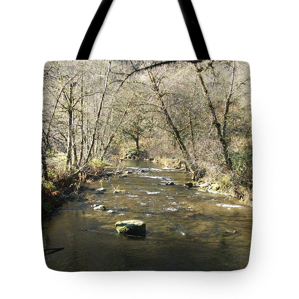 River Tote Bag featuring the photograph Sleepy Creek by Shari Chavira