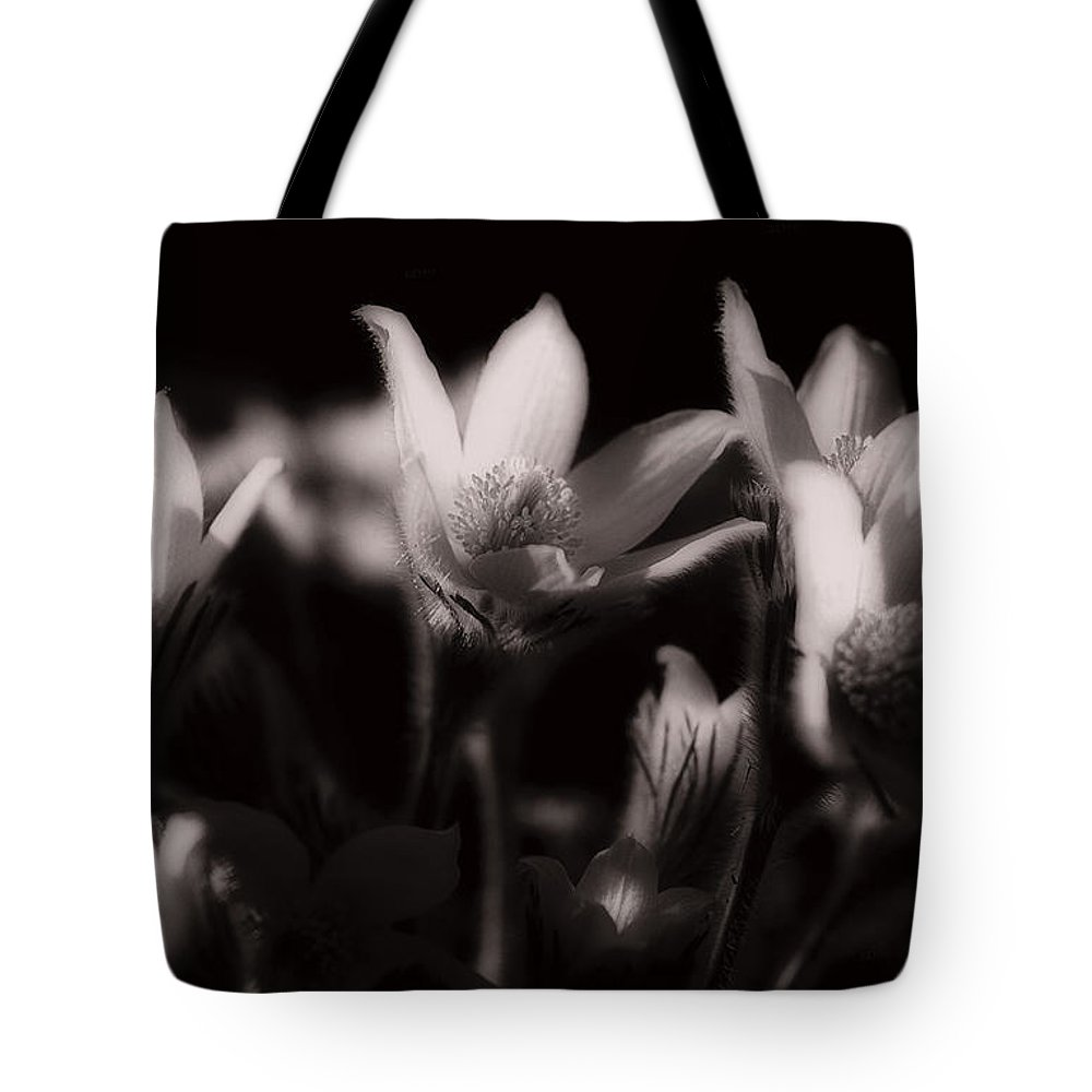 Flowers Tote Bag featuring the photograph Sleepy Flowers by Marilyn Hunt