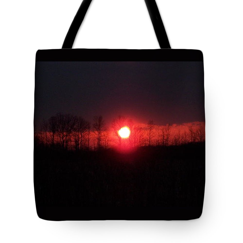 Sun Tote Bag featuring the photograph Slice Sunset by Michelle Miron-Rebbe