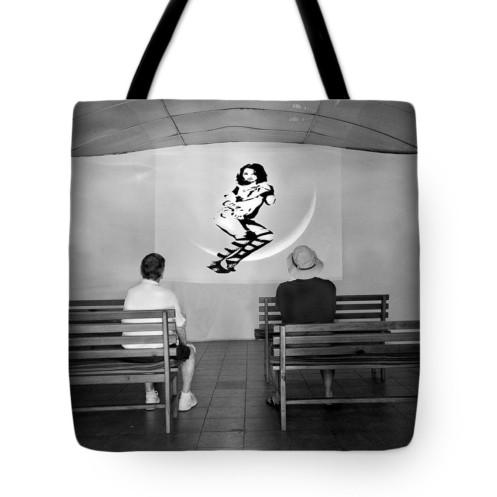 Portrait Tote Bag featuring the digital art Slide Show by Roger Leege