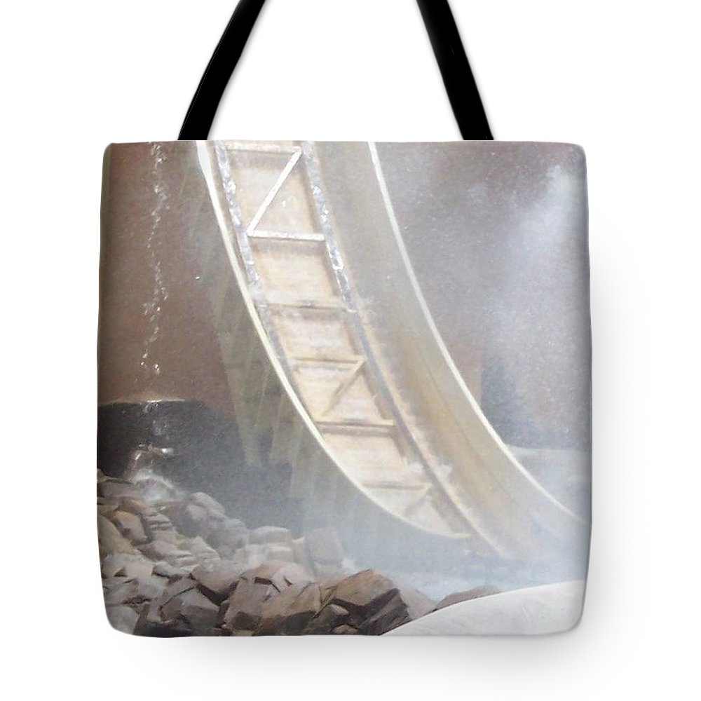 Slide Tote Bag featuring the photograph Slide Splash by Pharris Art