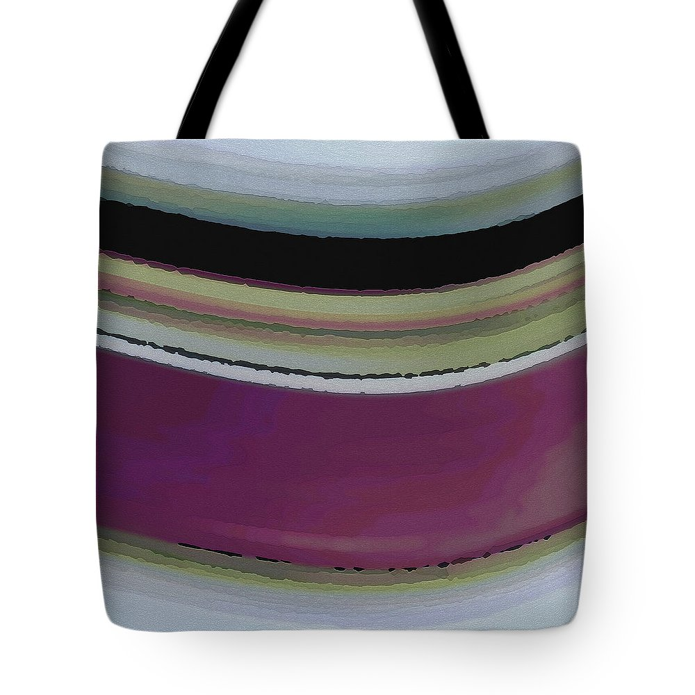 Abstract Tote Bag featuring the digital art Slight Curve by Ruth Palmer