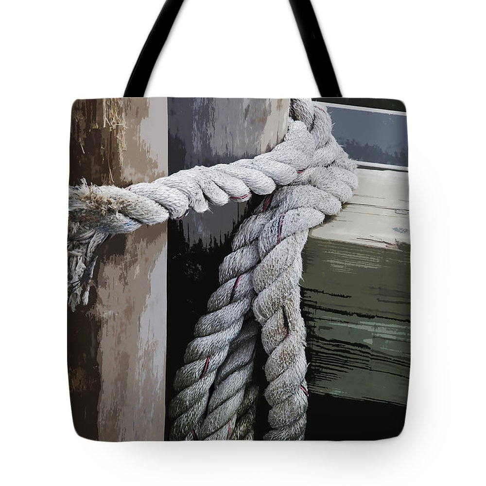 Rope Tote Bag featuring the photograph Slip Knot by Kelley King